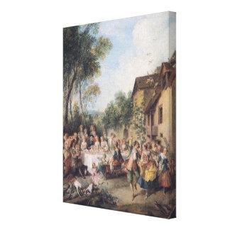 Wedding Feast in the Village Canvas Print