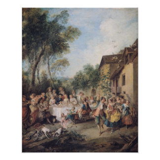 Wedding Feast in the Village Poster