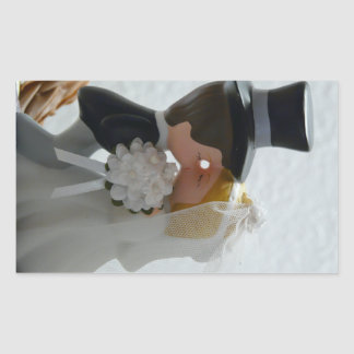 Wedding Figures Rectangular Sticker