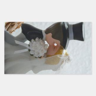 Wedding Figures Rectangle Sticker