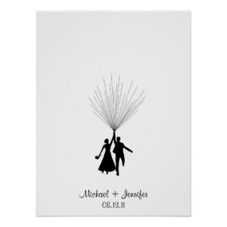Wedding Fingerprint Balloon Guestbook