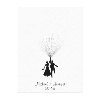 Wedding Fingerprint Balloon Guestbook Canvas Print