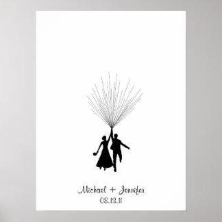 Wedding Fingerprint Balloon Guestbook Poster