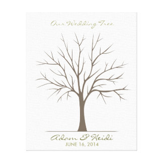 Wedding Fingerprint Tree – Classic Canvas Print