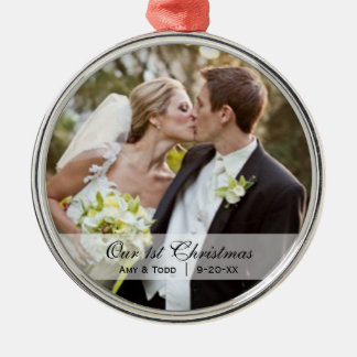 Wedding  |  First Christmas Photo Ornament