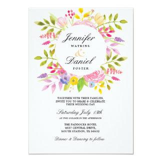 Wedding Floral Invitation Elegant Formal Invite