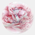 Wedding Flower Envelope Seals Round Sticker