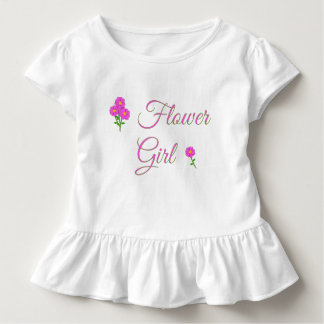 Wedding - Flower Girl - Cute Toddler Ruffle Tee