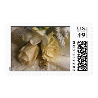 Wedding Flower Postage Stamps