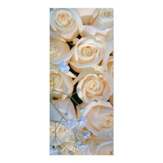 Wedding Flowers 10 Cm X 24 Cm Invitation Card