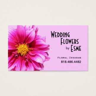 Wedding Flowers Floral Design Florist Dahlia pink Business Card