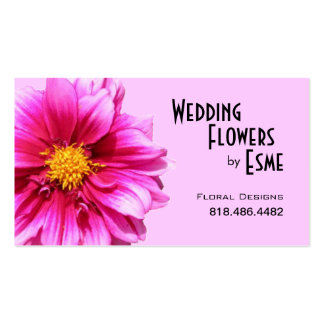Wedding Flowers Floral Design Florist Dahlia pink Pack Of Standard Business Cards