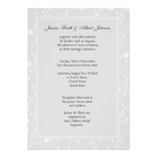 Wedding flowers invitation announcements