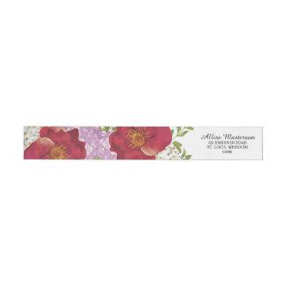 Wedding Flowers Return Address Label