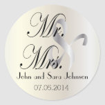 Wedding for the Mr & Mrs | Personalise Round Sticker