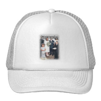 Wedding Frame with Rings Trucker Hat