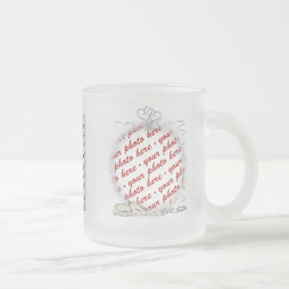 Wedding Frame with Rings & Ribbons Coffee Mugs