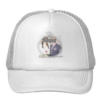 Wedding Frame with Rings Ribbons Trucker Hats