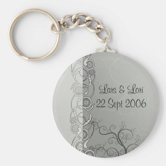 Wedding Frills Basic Round Button Key Ring