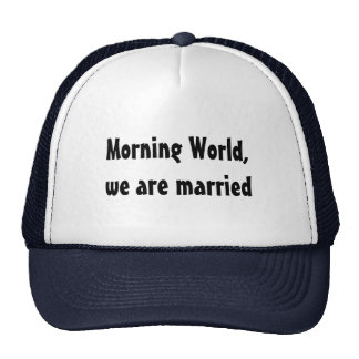 Wedding funny marriage cap