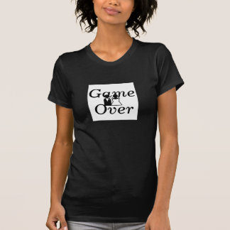 Wedding Game Over Black White Humour T-shirts