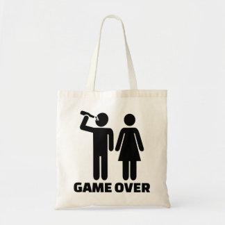 Wedding game over budget tote bag