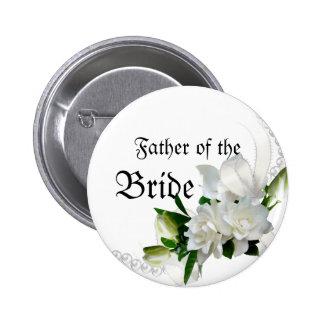 Wedding Gardenias Pinback Button