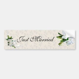 Wedding Gardenias Bumper Sticker