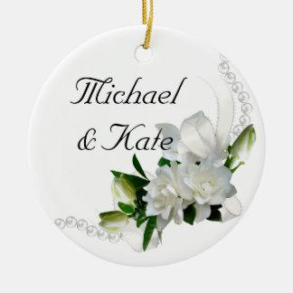 Wedding Gardenias Christmas Ornament