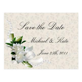 Wedding Gardenias Postcard