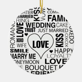 Wedding Gift Bride Groom Love Words Ornament Favor