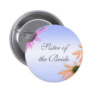wedding gift, daisy flowers, 6 cm round badge