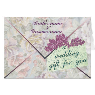 Wedding Gift Money Enclosure Card