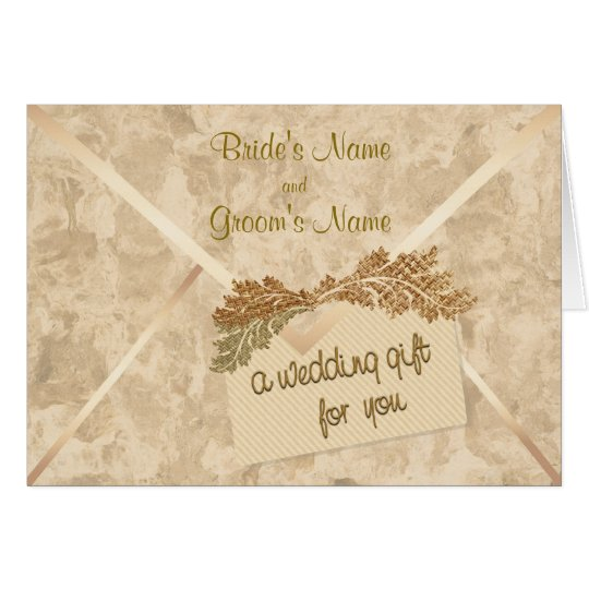 Wedding Gift Card Uk : Wedding Gift Money Enclosure Card Zazzle