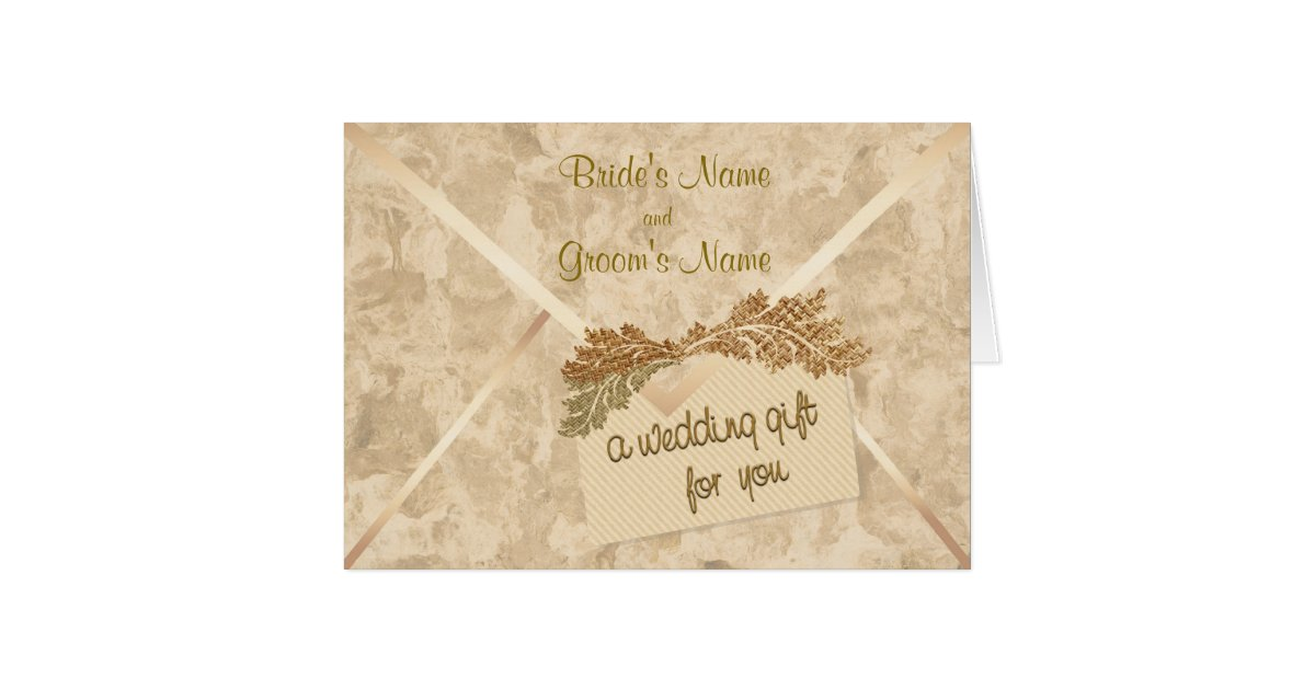 Cash Wedding Gift Calculator Uk : Wedding Gift Money Enclosure Card Zazzle