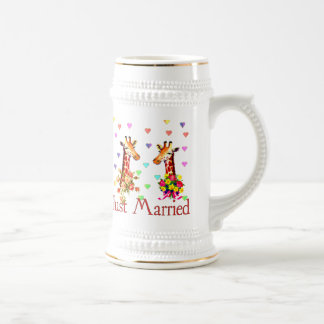 Wedding Giraffes Beer Stein