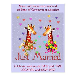 Wedding Giraffes Custom Flyer