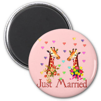 Wedding Giraffes Magnet