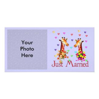 Wedding Giraffes Photo Card Template