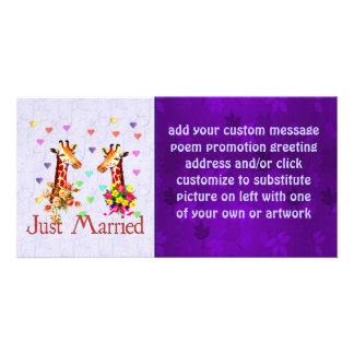 Wedding Giraffes Custom Photo Card