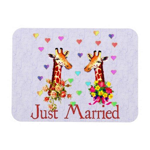Wedding Giraffes Magnets