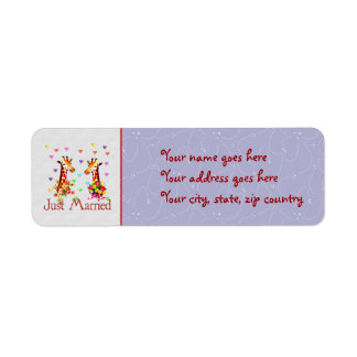 Wedding Giraffes Return Address Label