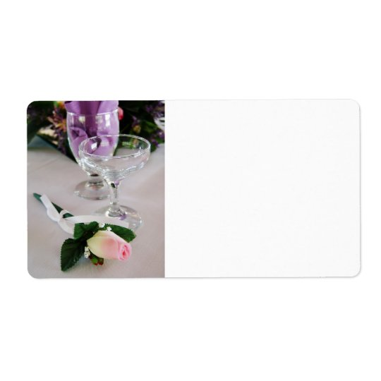Wedding Glass Shipping Label