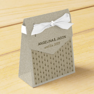 Wedding Golden Floral Elegant Sandstone Classy Favour Box