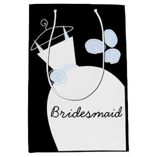 Wedding Gown Blue Bridesmaid black medium Medium Gift Bag