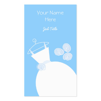 Wedding Gown Blue business card portrait