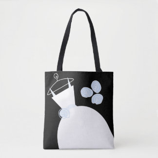 Wedding Gown Blue Maid Honor black text Tote Bag