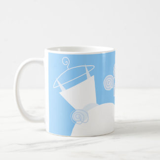 Wedding Gown Blue Maid of Honor mug