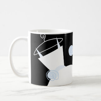 Wedding Gown Blue 'Mother of the Bride' black Coffee Mugs
