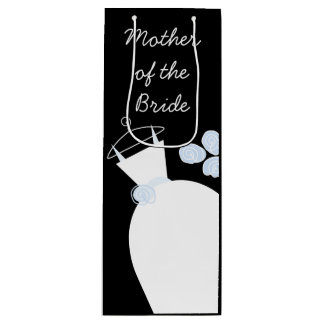 Wedding Gown Blue Mother of the Bride black wine Wine Gift Bag